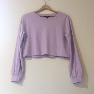 Forever 21 long sleeve crop top